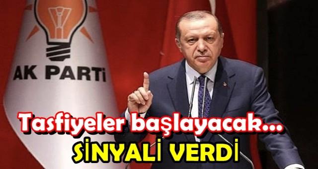ERDOĞAN İŞARETİ VERDİ, DEĞİŞİM ZAMANI!