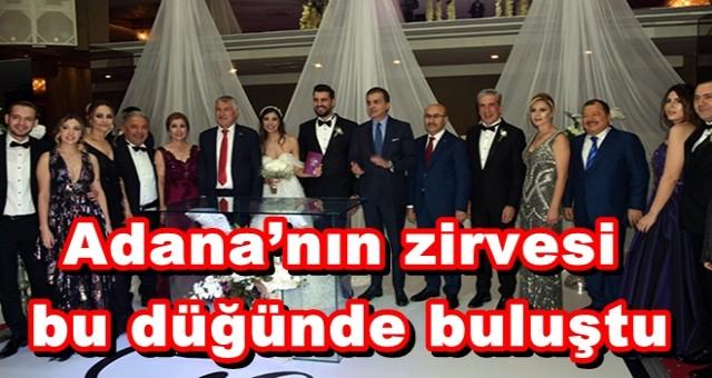 Adana'nın zirvesi bu düğünde buluştu
