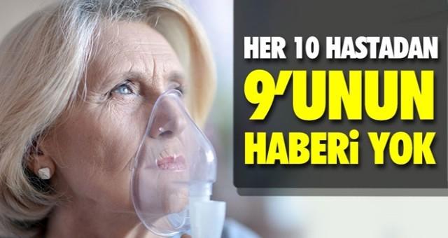 10 KOAH'lıdan 9'unun hastalığından haberi yok
