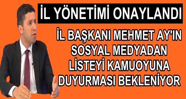 Ak Parti Adana il yönetimi belli oldu
