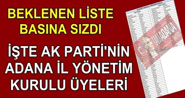 Ak Parti il yönetim listesi basına sızdırıldı