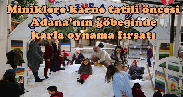 Belediye kreşindeki çocukların kardan adam keyfi…