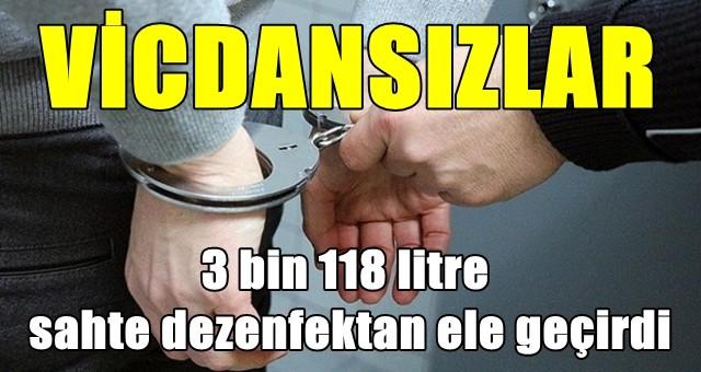 Adana'da sahte dezenfektan operasyonu
