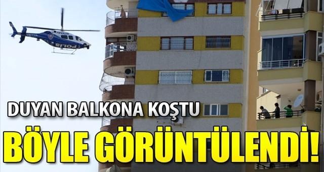 Polis havadan helikopterle uyardı: 'Evde kal Adana'