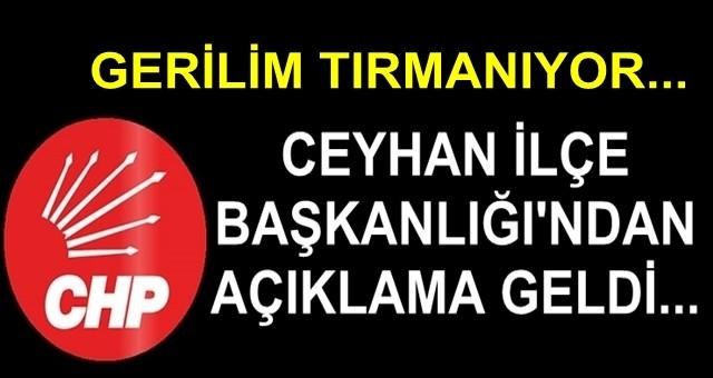 CHP Ceyhan İlçe Başkanlığı, Bünül ve Ak Parti'yi eleştirdi