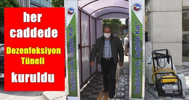 Ceyhan'da, her caddede Dezenfeksiyon Tüneli kuruldu