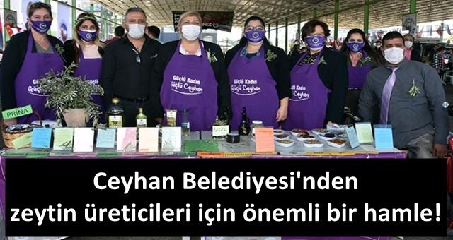 Ceyhan'da zeytin ve zeytinyağı pazarı açıldı