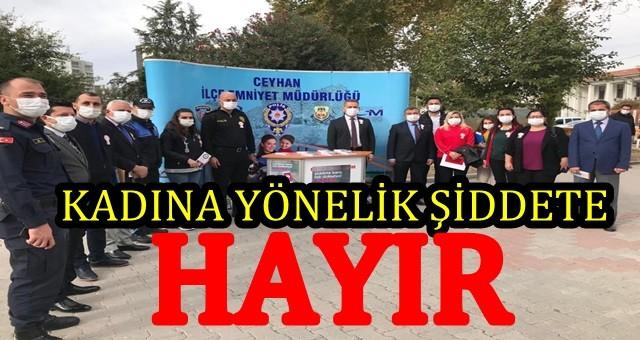 Ceyhan'da farkındalığın arttırılmasına yönelik stand açıldı