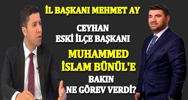 AK Parti İl Başkanı Mehmet Ay'dan eski ilçe başkanına görev