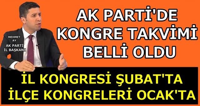 AK Parti ilçe kongrelerini Ocak ayında yapacak!