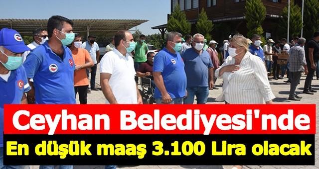 Hülya Erdem Belediyede en düşün maaşın 3.100 lira olacağını duyurdu
