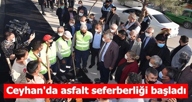 Ceyhan'da asfalt seferberliği başladı