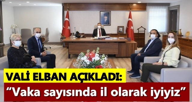 "Vali Elban ""Vaka sayısında il olarak iyiyiz"""