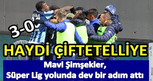 Adana Demirspor şampiyonluğa kenetlendi: 3-0