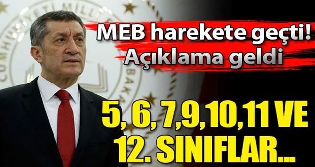 MEB harekete geçti ve açıkladı! 5, 6, 7, 8, 9, 10, 11 ve 12. sınıflar...