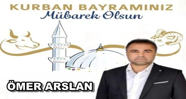 AK Parti Ceyhan ilçe yöneticisi Ömer Arslan'dan Kurban Bayramı mesajı
