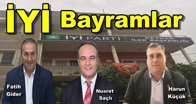 İYİ Parti  Ceyhan Belediye Meclis Üyelerinden Kurban Bayramı Mesajı