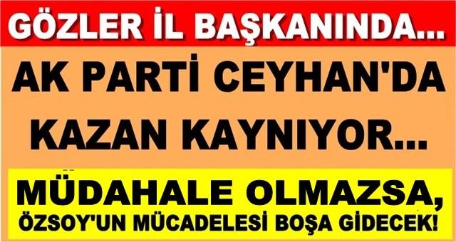 AK Parti Ceyhan kaynıyor!