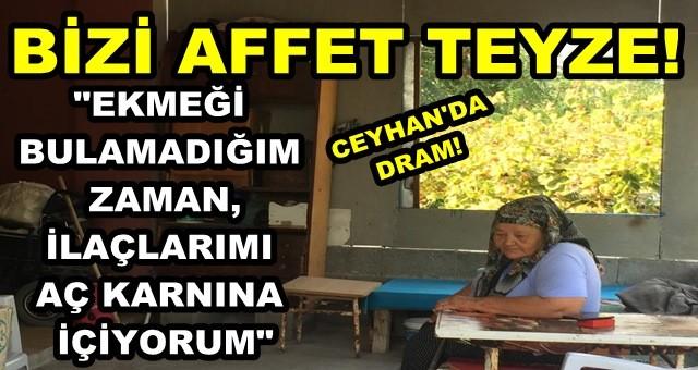 Ceyhan'da ölümü çaresizce bekleyen kadının dramı!