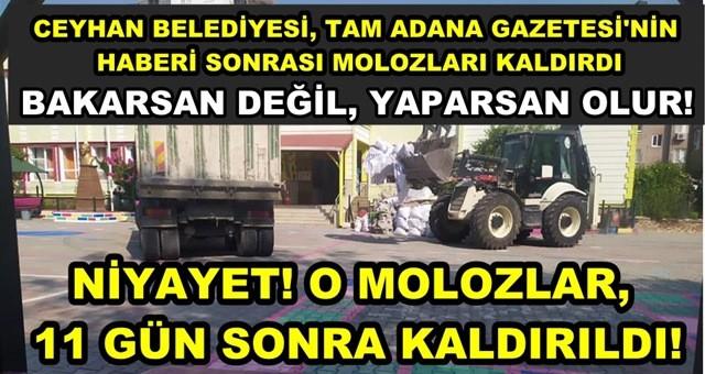 Ceyhan Belediyesi, okuldaki molozları 11 gün sonra  kaldırdı