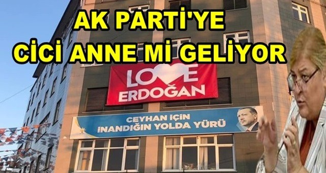 AK PARTİ'YE CİCİ ANNE'Mİ GELİYOR?