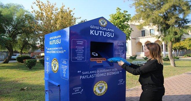 YÜREĞİR'DE 'GİYSİ TOPLAMA KUTUSU' PROJESİ