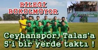 Ceyhanspor, deplasmanda Talasgücü Belediyespor'u 5 golle geçti