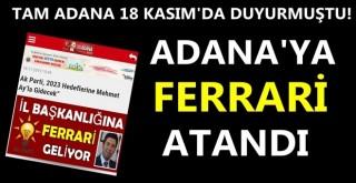 Ak Parti İl Başkanlığı'na Mehmet Ay atandı