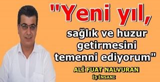 İş insanı Ali Fuat Nalvuran''dan yeni yıl mesajı