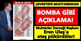 Ceyhan Muhtarlar Derneği Başkanı Eren Ulaş'a tepkiler sürüyor!