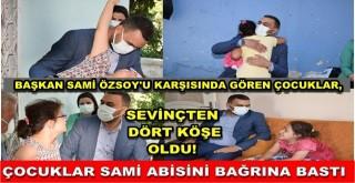 Çocuklardan Başkan Özsoy'a büyük ilgi!